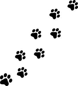Paw Print Black And White Clipart.