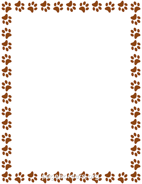 Brown Paw Print Border: Clip Art, Page Border, and Vector.