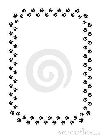 Paw print clipart border 2 » Clipart Portal.