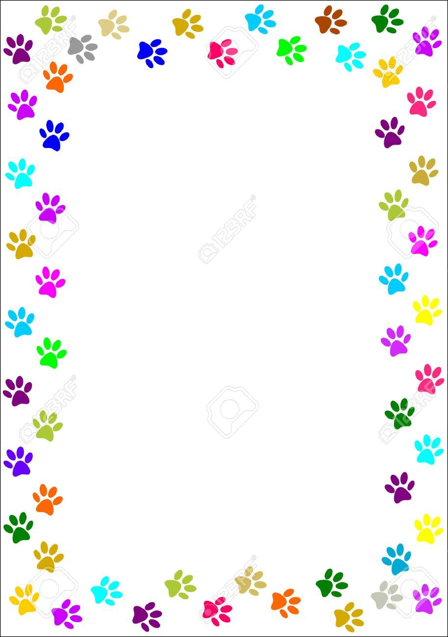 Free clipart paw print borders 2 » Clipart Portal.
