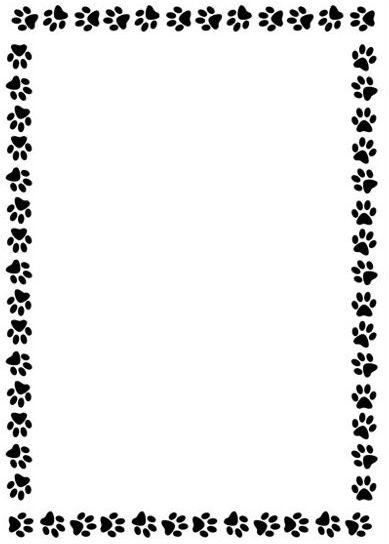 Paw print paw border clipart 4.