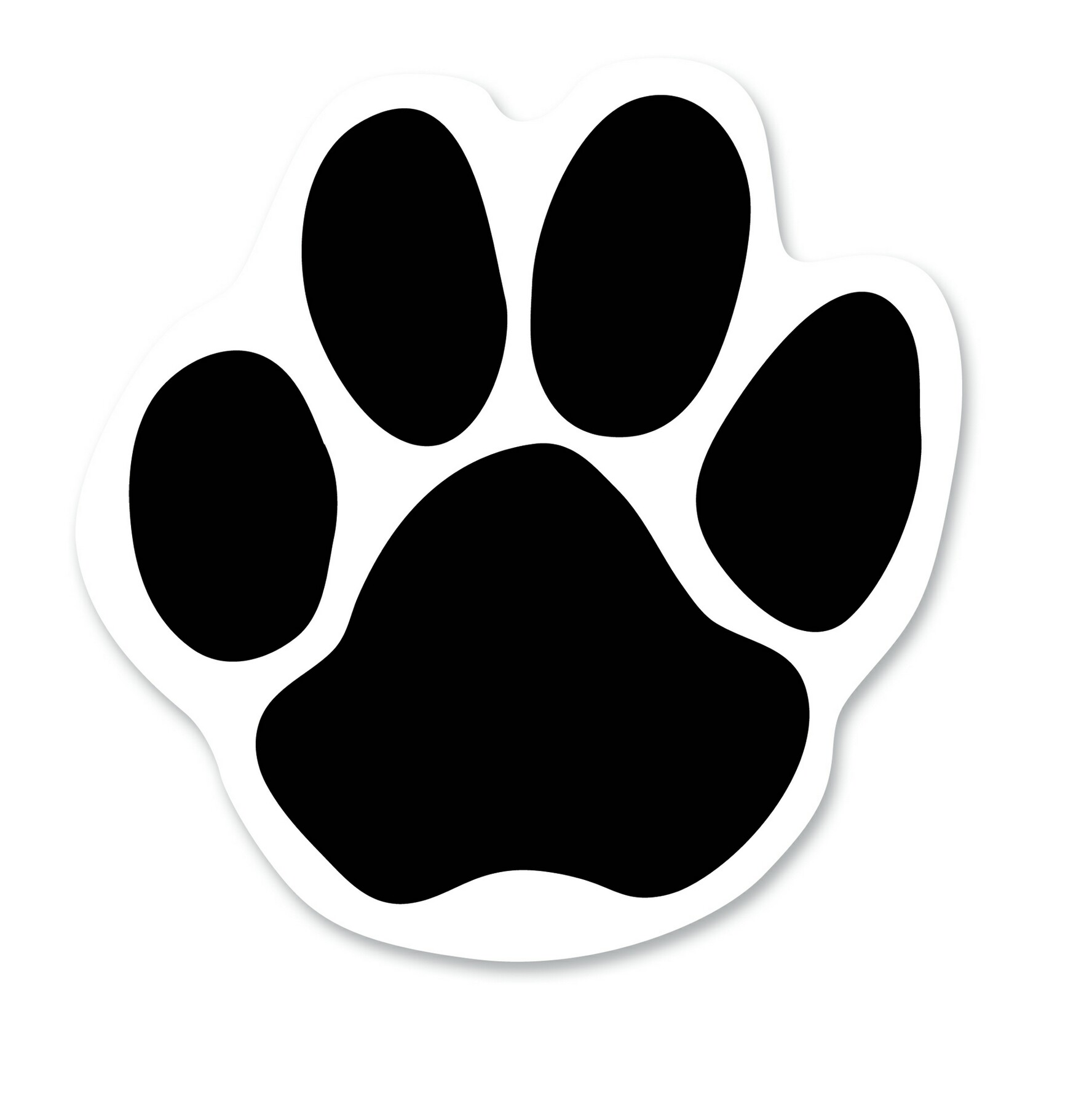 Dog paw print outline free download clip art.
