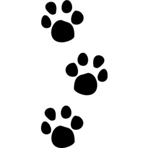 Dog paw print stamps dog prints clip art clipartcow.