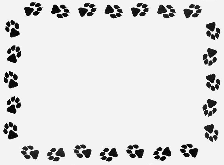 Paw Print Border For Microsoft Word.