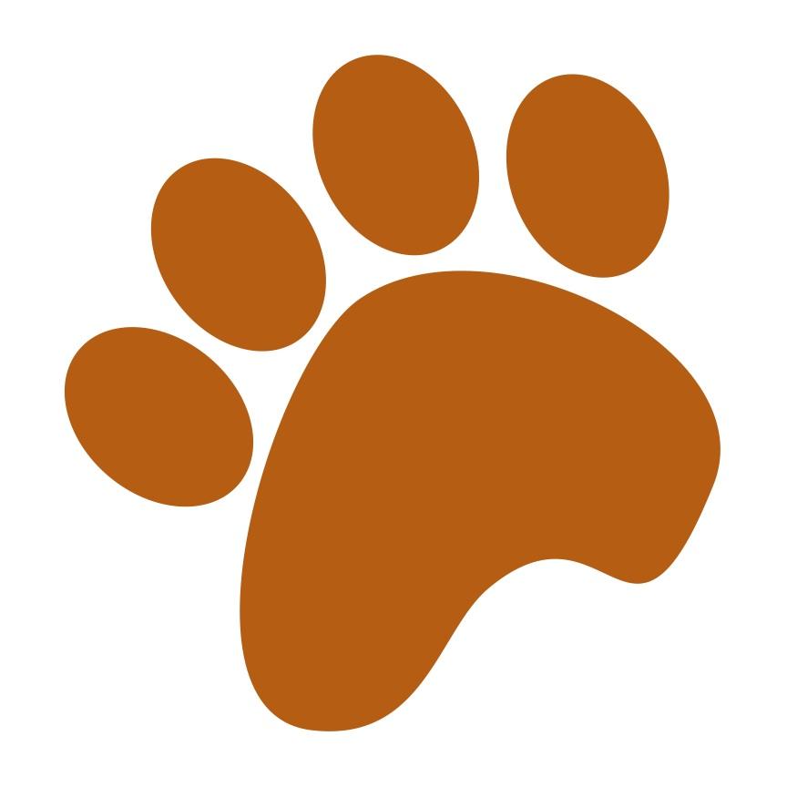 Dog Paw Print Image.