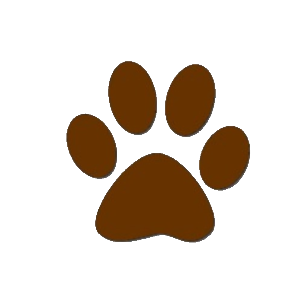 Brown Dog Paw Print Clipart.