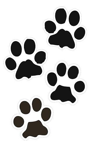 Dog Paw Print Clip Art Free Download.