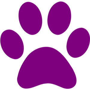 Dog paw print clip art free clipart image.
