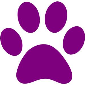 Dog paw print clip art free clipart image.