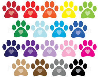 Paw print clipart.