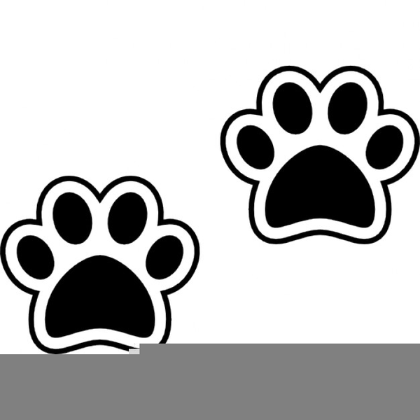 Free Paw Print Outline Clipart.