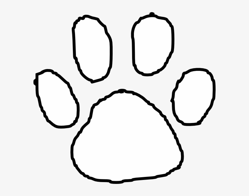 Tiger Paw Print Outline Clip Art At Clipart Library.
