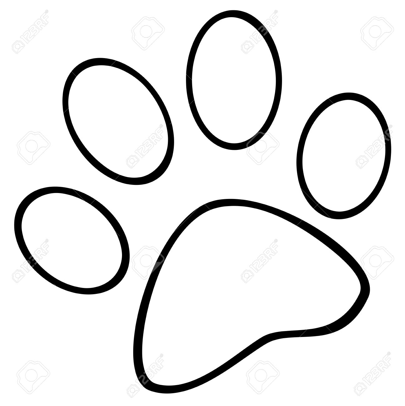 8638 Paw free clipart.