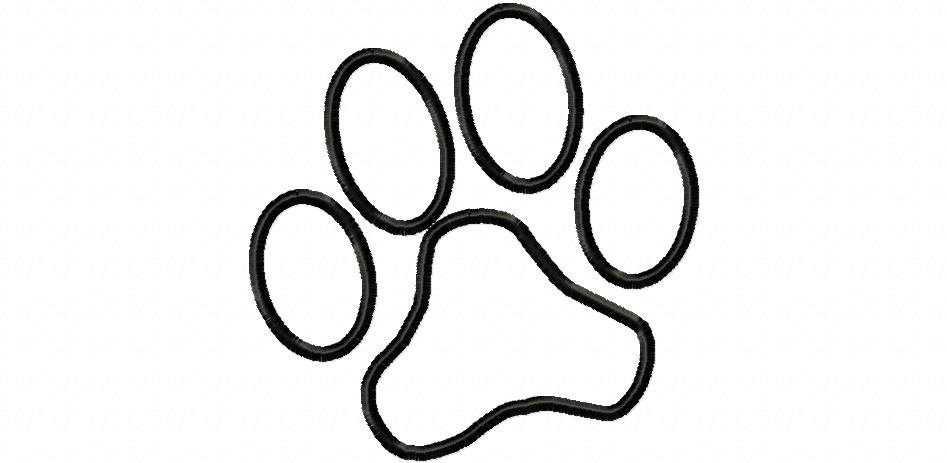 Free Paw Print Outline, Download Free Clip Art, Free Clip.
