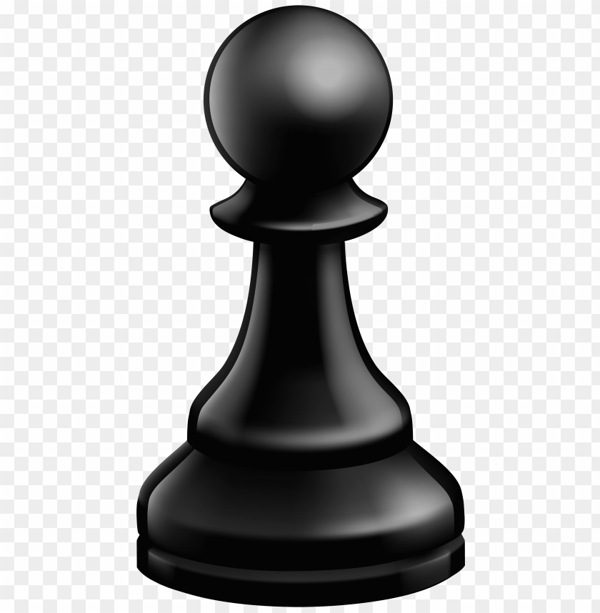 Download pawn black chess piece clipart png photo.