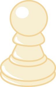Pawn On Chess Board Clip Art.