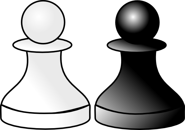 Black And White Pawns Clip Art at Clker.com.