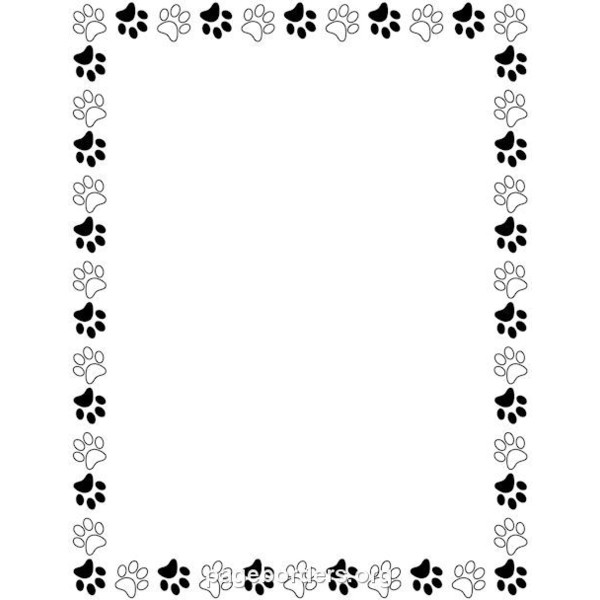 Paw Print Border Clipart.