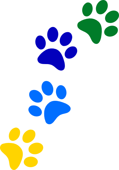 Rainbow Paws Clip Art at Clker.com.