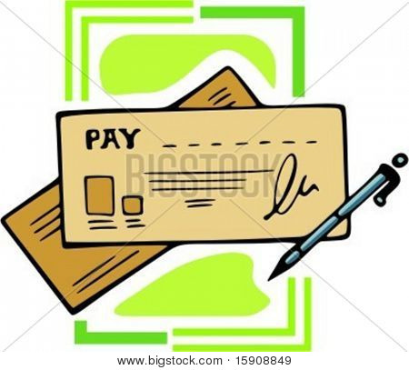 Pay Check Clipart.