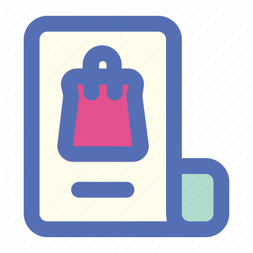 \'Online Shopping (Filled Outline)\' by Mata Sapi.