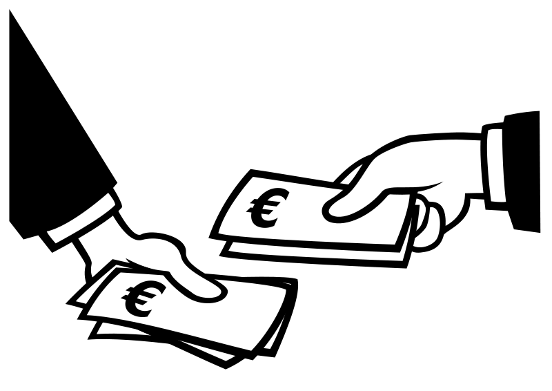 Free Clipart: Paying in Euros.