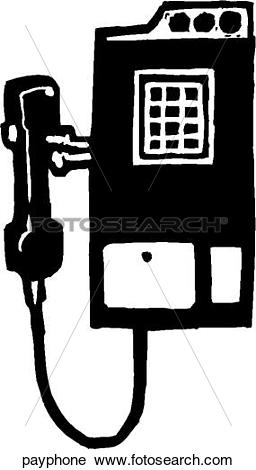 Clipart of Pay Phone payphone.