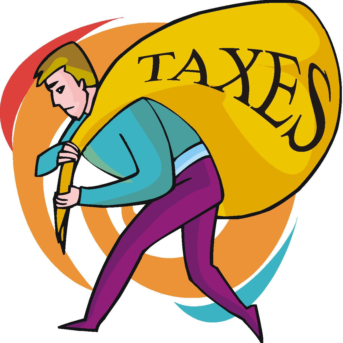 Pay taxes clipart.