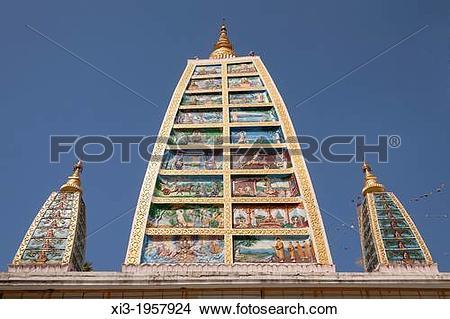 Stock Photo of Replica of Mahabodhi Paya, at Shwedagon Pagoda.