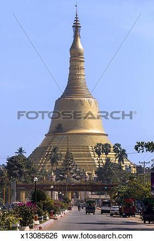Stock Images of Shwemawdaw Paya.