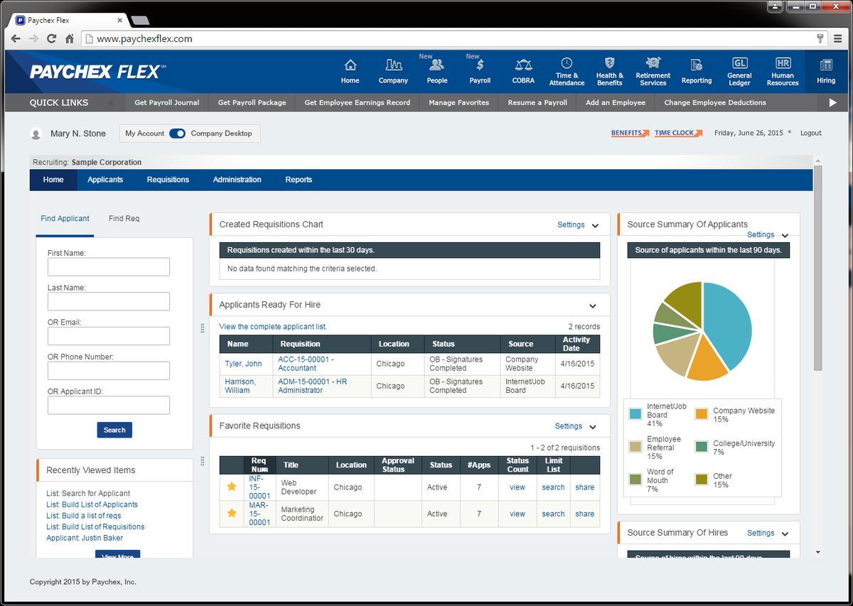 Paychex Flex Hiring Streamlines the New.
