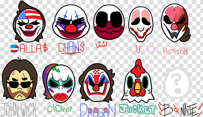 Payday 2 Jacket Video Games Mask, payday 2 transparent.