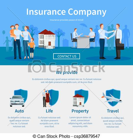 Vector Clipart of Insurance agent paying compensation money to.