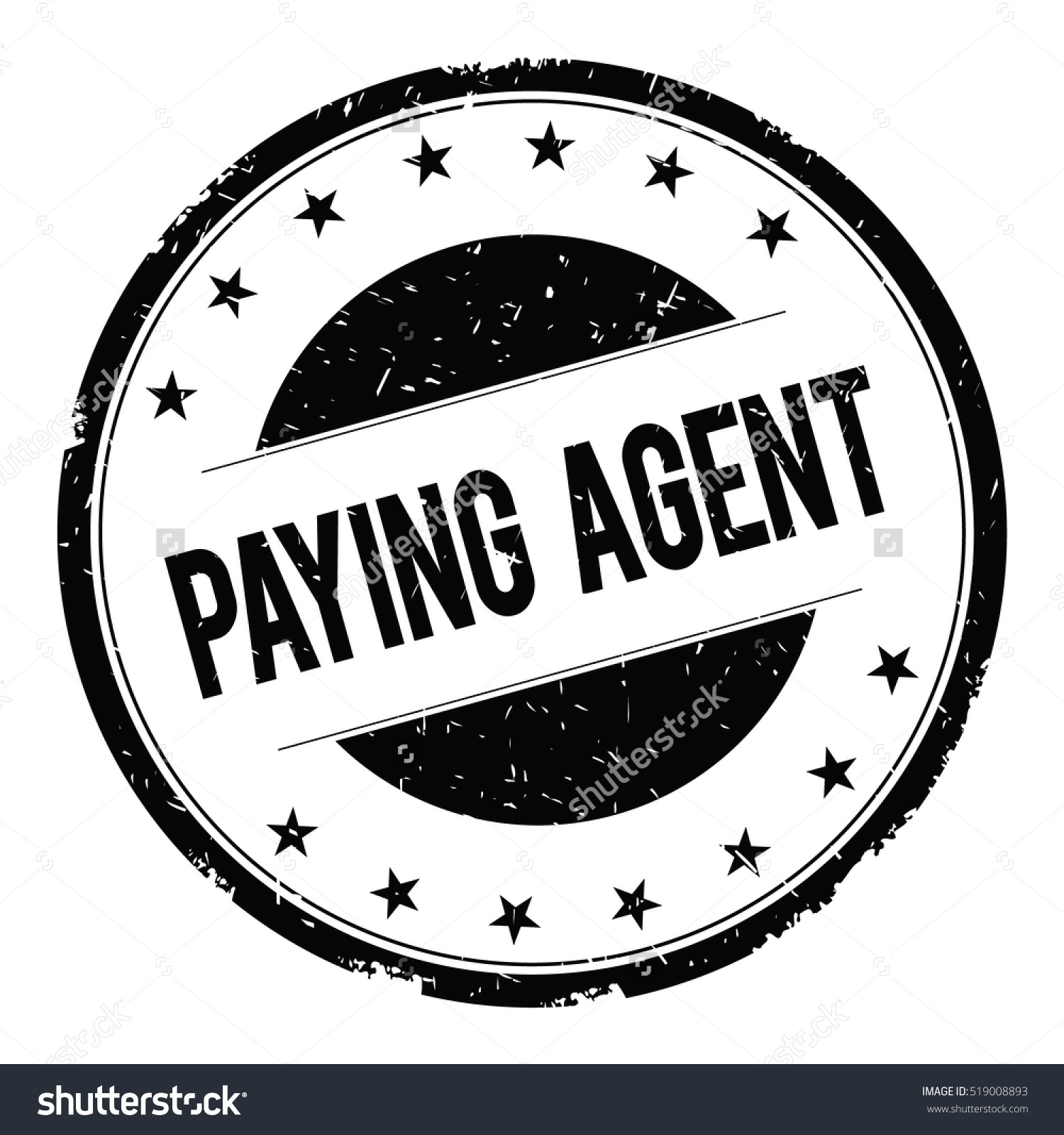 Paying Agent Stamp Sign Text Word Stock Illustration 519008893.