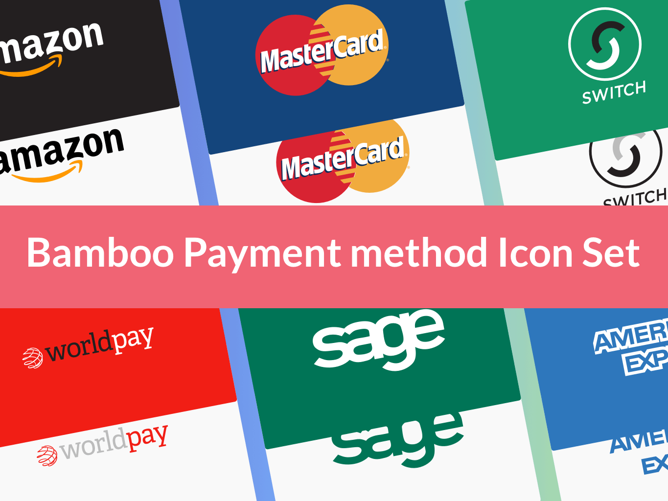 Credit Cards Icon Set.
