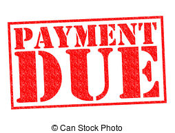 Payment due clipart.