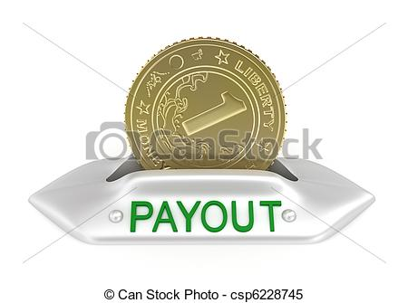 Stock Illustrations of Payout concept icon, isolated on white.