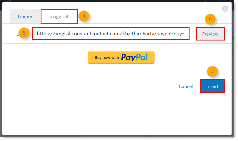 Insert a Branded PayPal Button into an Email.