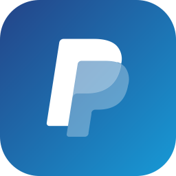 Paypal Logo Icon of Flat style.