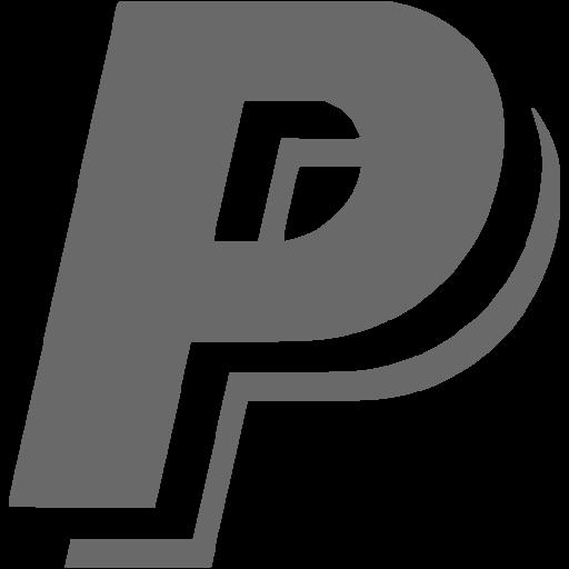Dim gray paypal icon.