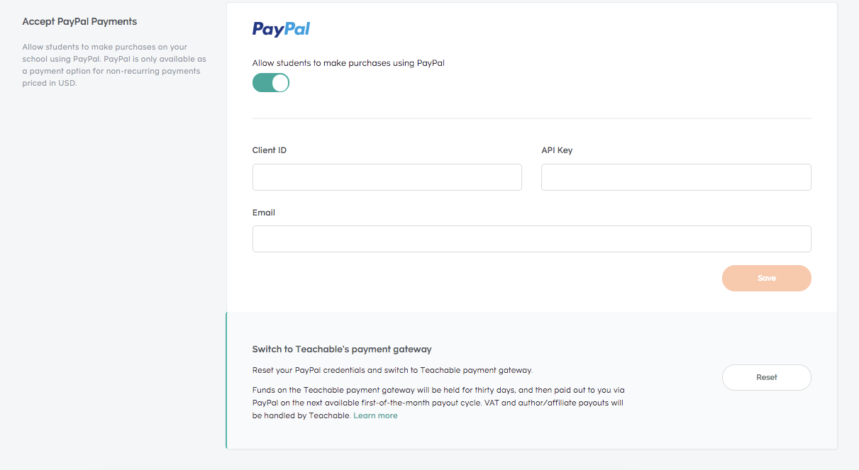 Custom Payment Gateways.
