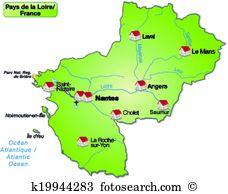 Map pays de la loire Clipart and Illustration. 49 map pays de la.