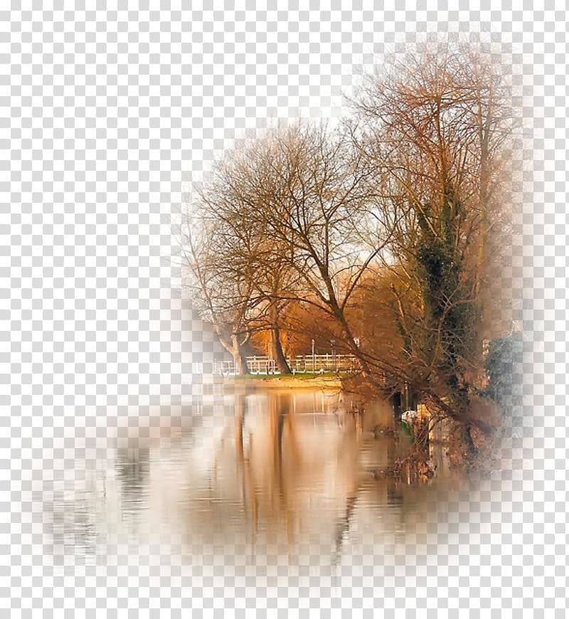 Autumn Desktop Landscape, Paysage transparent background PNG.