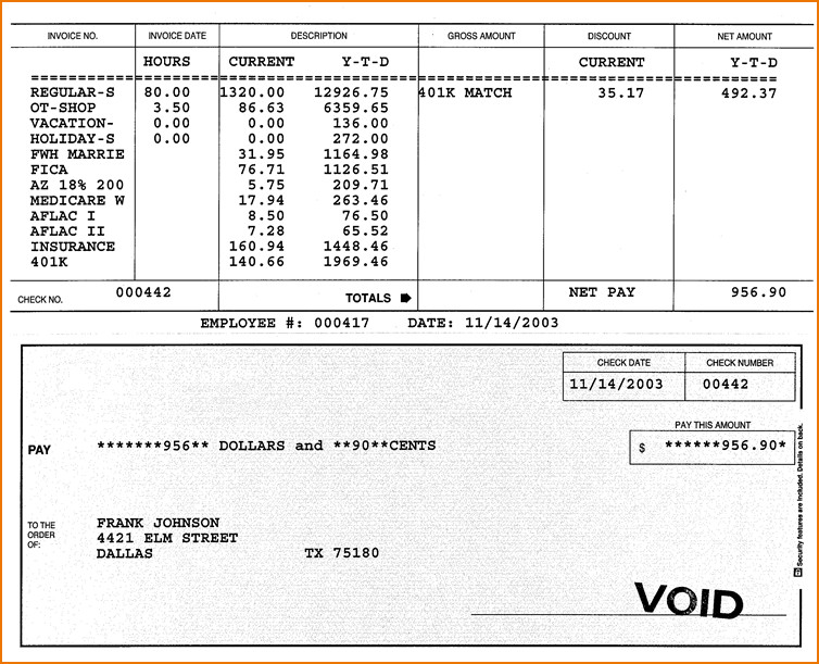 Sample Pay Stub Pdf Unique 5 Sample Check Stubs.