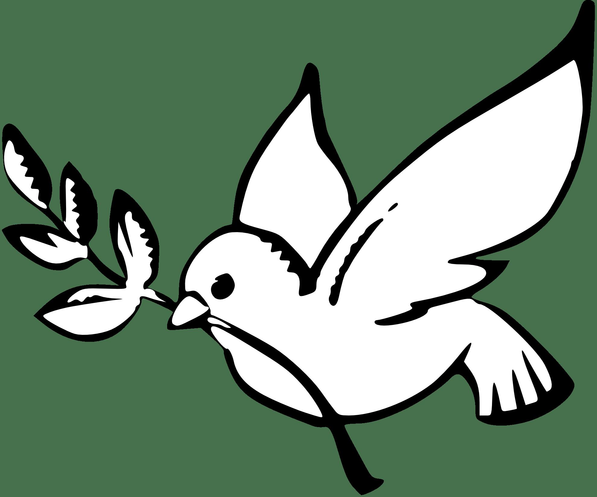Paloma símbolo de la Paz PNG transparente.
