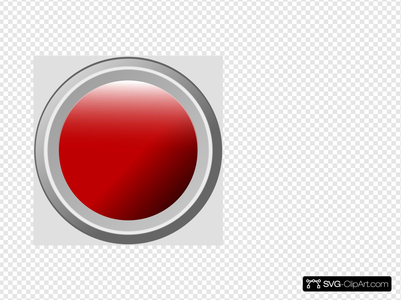Red Pb Pushed Clip art, Icon and SVG.