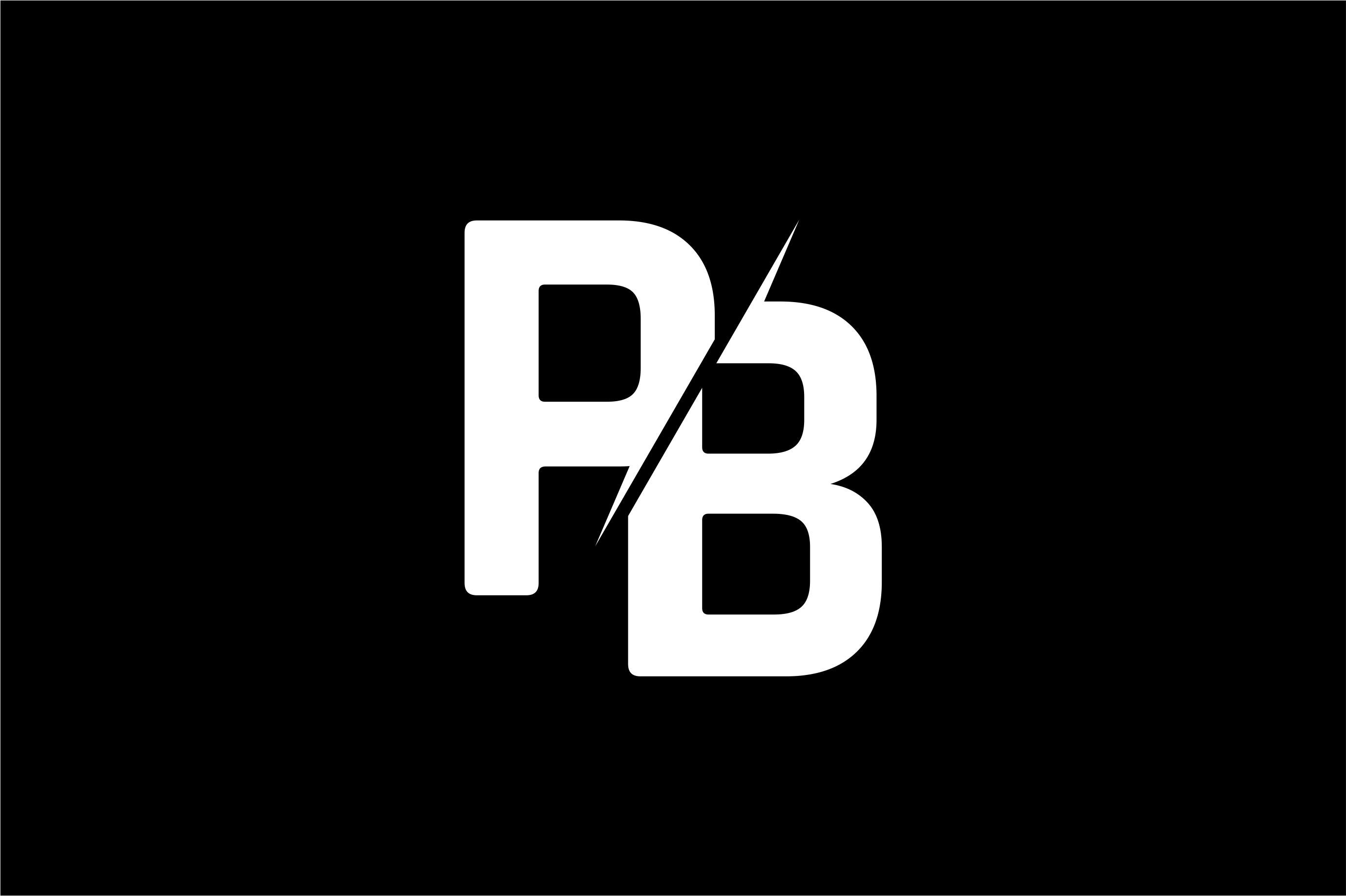 Monogram PB Logo Design.