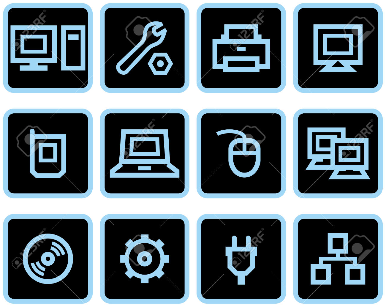 Vector Web Icons Set.