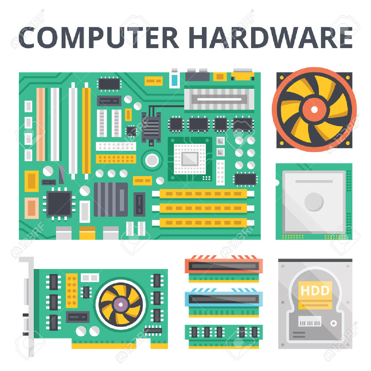 61,961 Computer Hardware Stock Vector Illustration And Royalty.