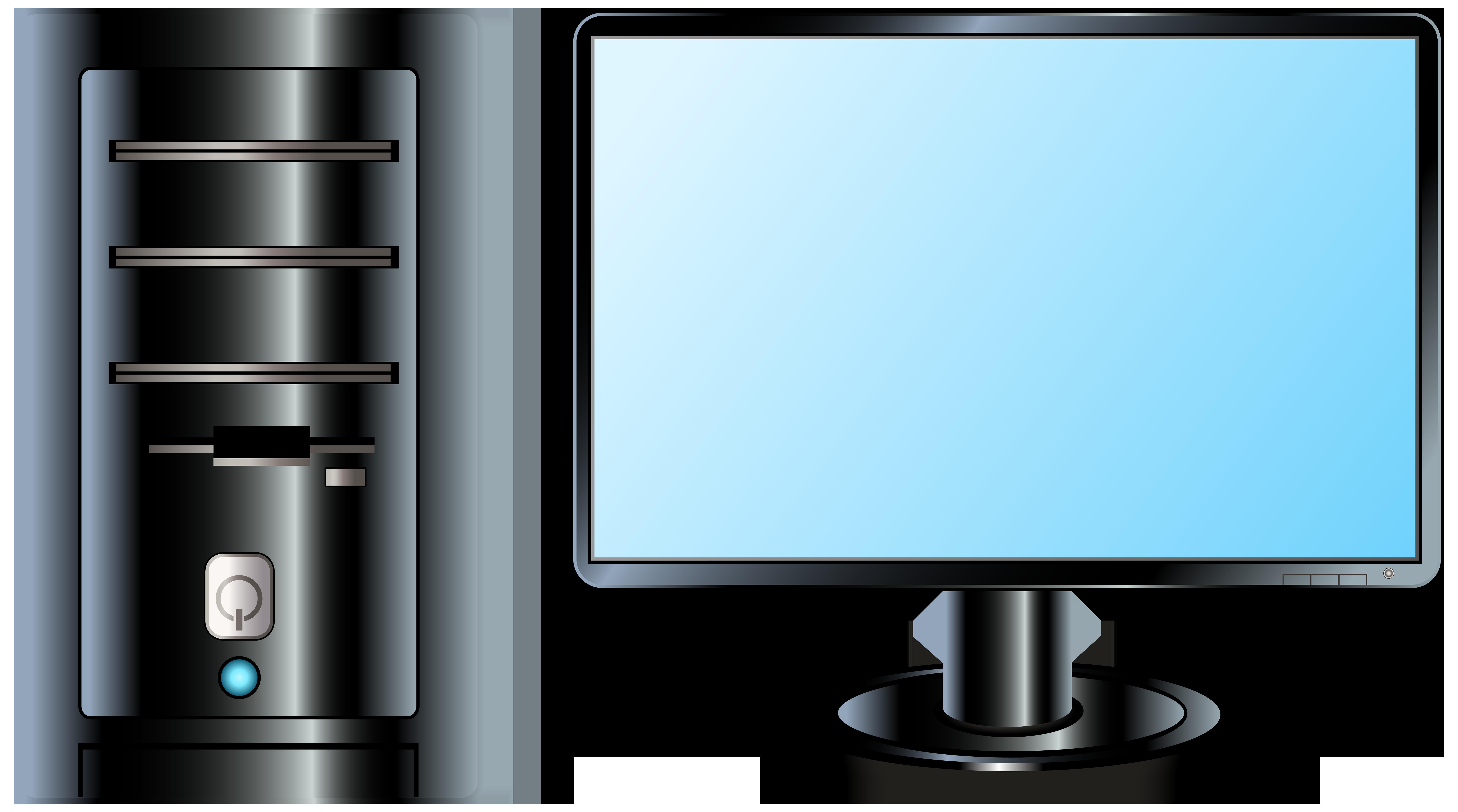 Desktop PC PNG Clip Art.